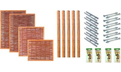 T&J Weidenzaun »Fresno 1«, 4 Elemente, LxH: 525x180 cm kaufen