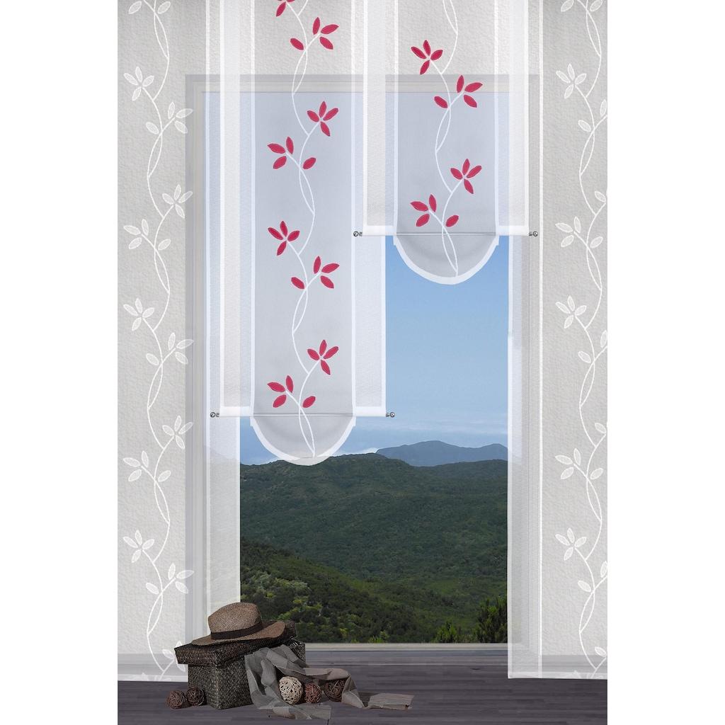 VHG Schiebegardine »Fiore«, Bogenabschluss