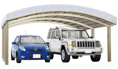 Ximax Doppelcarport »Portoforte Typ 110 M-Edelstahl-Look«, Aluminium, 526 cm,... kaufen