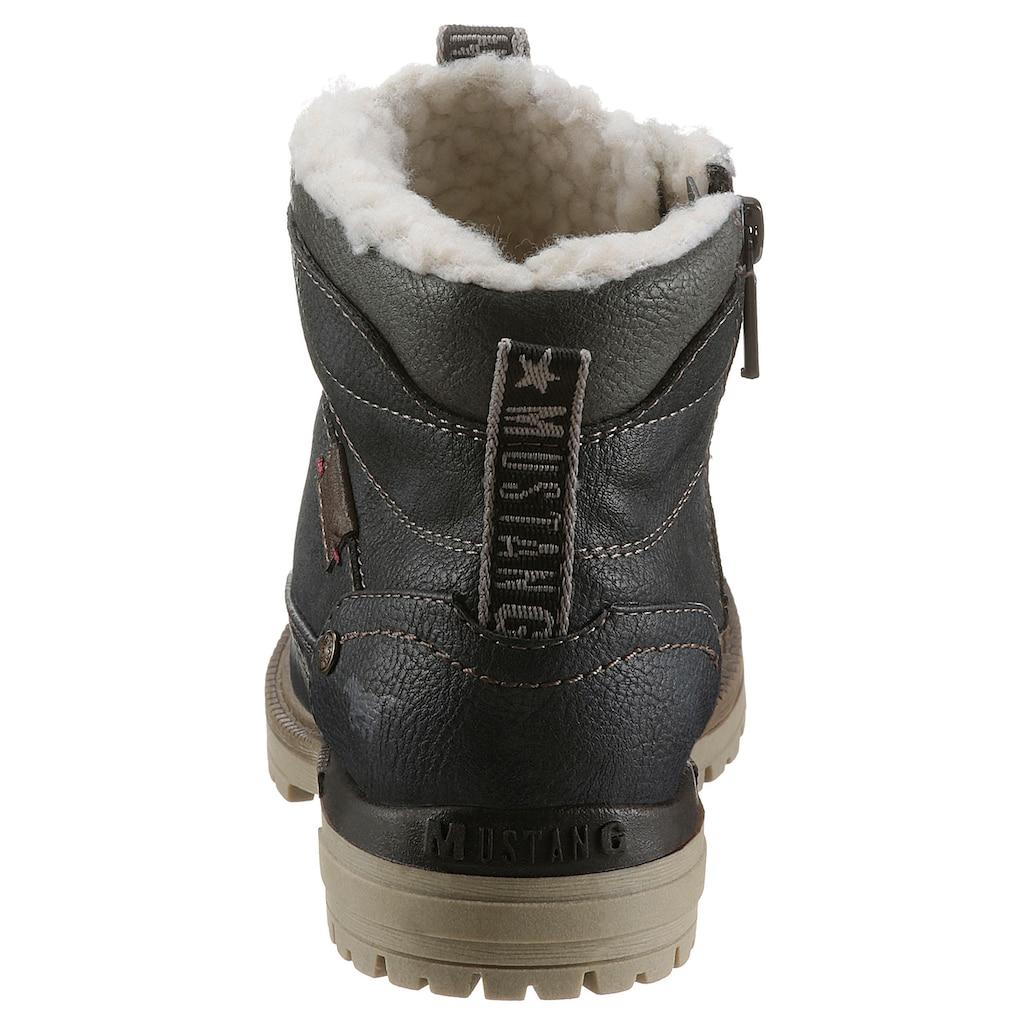Mustang Shoes Winterboots, mit Kontrastbesatz