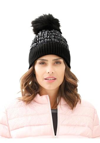 Casual Looks Mütze mit Webpelz - Bommel kaufen
