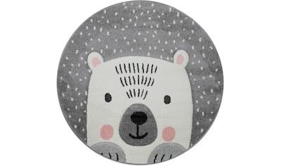 Paco Home Kinderteppich »Cosmo 346«, rund, 18 mm Höhe, Kinder Design, niedliches Bär... kaufen