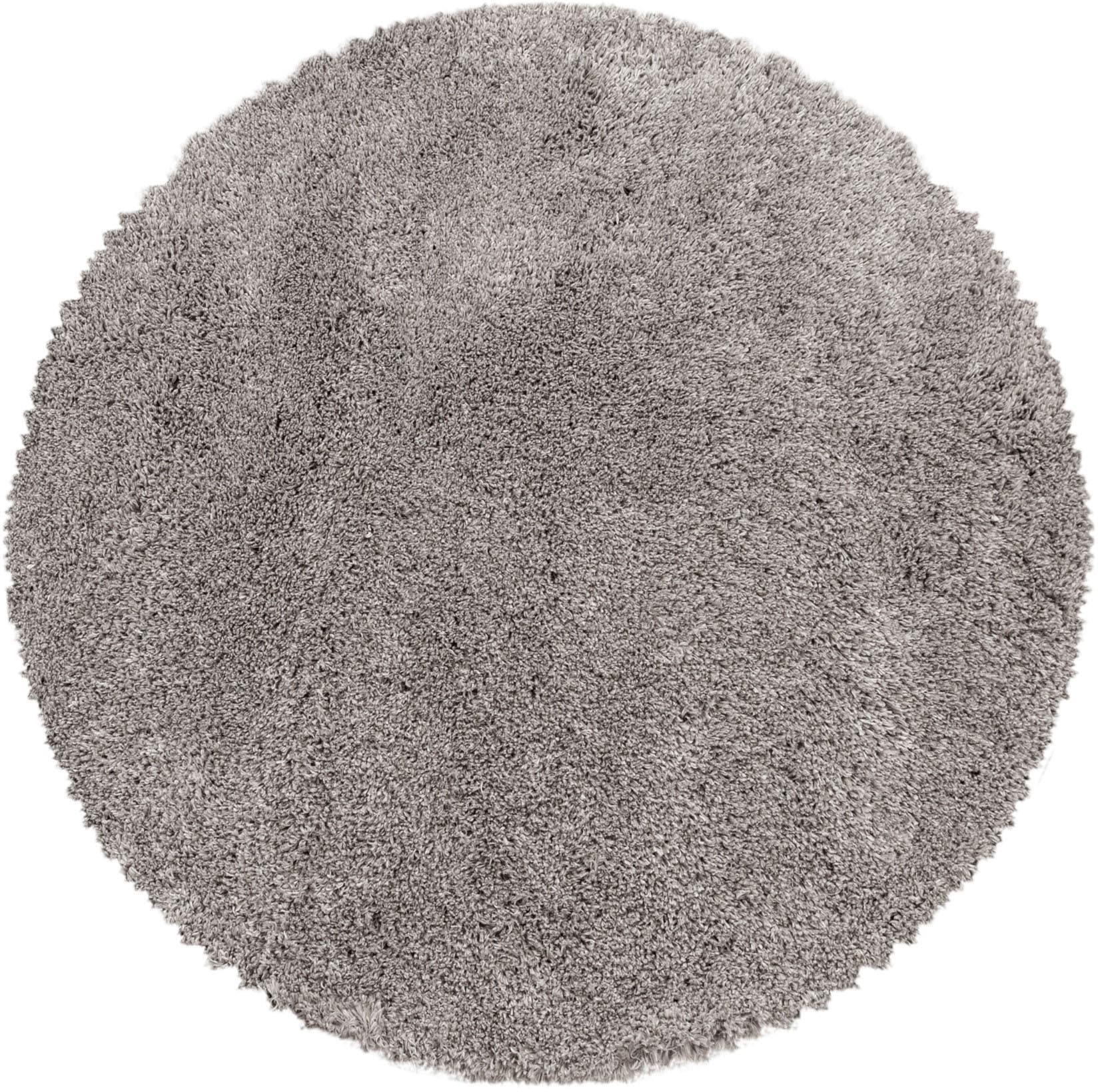 Ayyildiz Hochflor-Teppich FLUFFY 3500, rund, 50 mm Höhe beige Wohnzimmerteppiche Teppiche nach Räumen