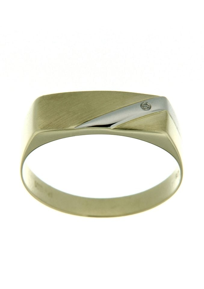Firetti Siegelring matt glanz in Bicolor-Optik | Schmuck > Ringe > Siegelringe | Goldfarben | Firetti