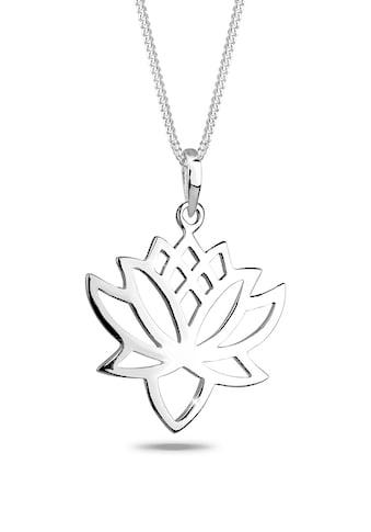 Elli Collierkettchen »Lotus Blüte Talisman Blume 925 Silber« kaufen