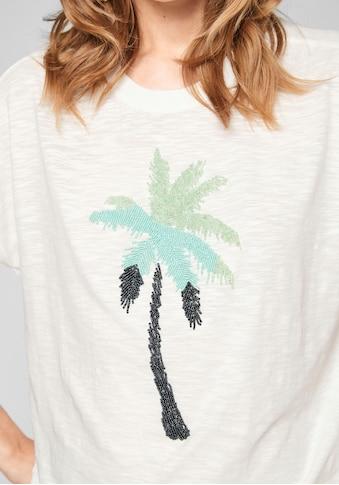 s.Oliver T-Shirt, mit Schmuckperlen kaufen