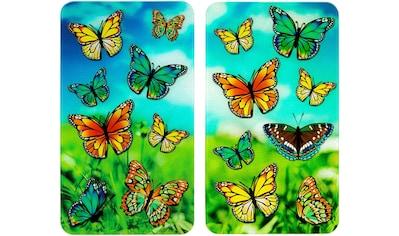 WENKO Herd-Abdeckplatte »Schmetterlinge«, (Set, 2 tlg.), für alle Herdarten kaufen