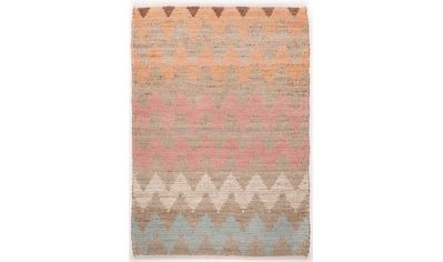TOM TAILOR Teppich »Pastel Zigzag«, rechteckig, 7 mm Höhe, Flachgewebe, handgewebt,... kaufen