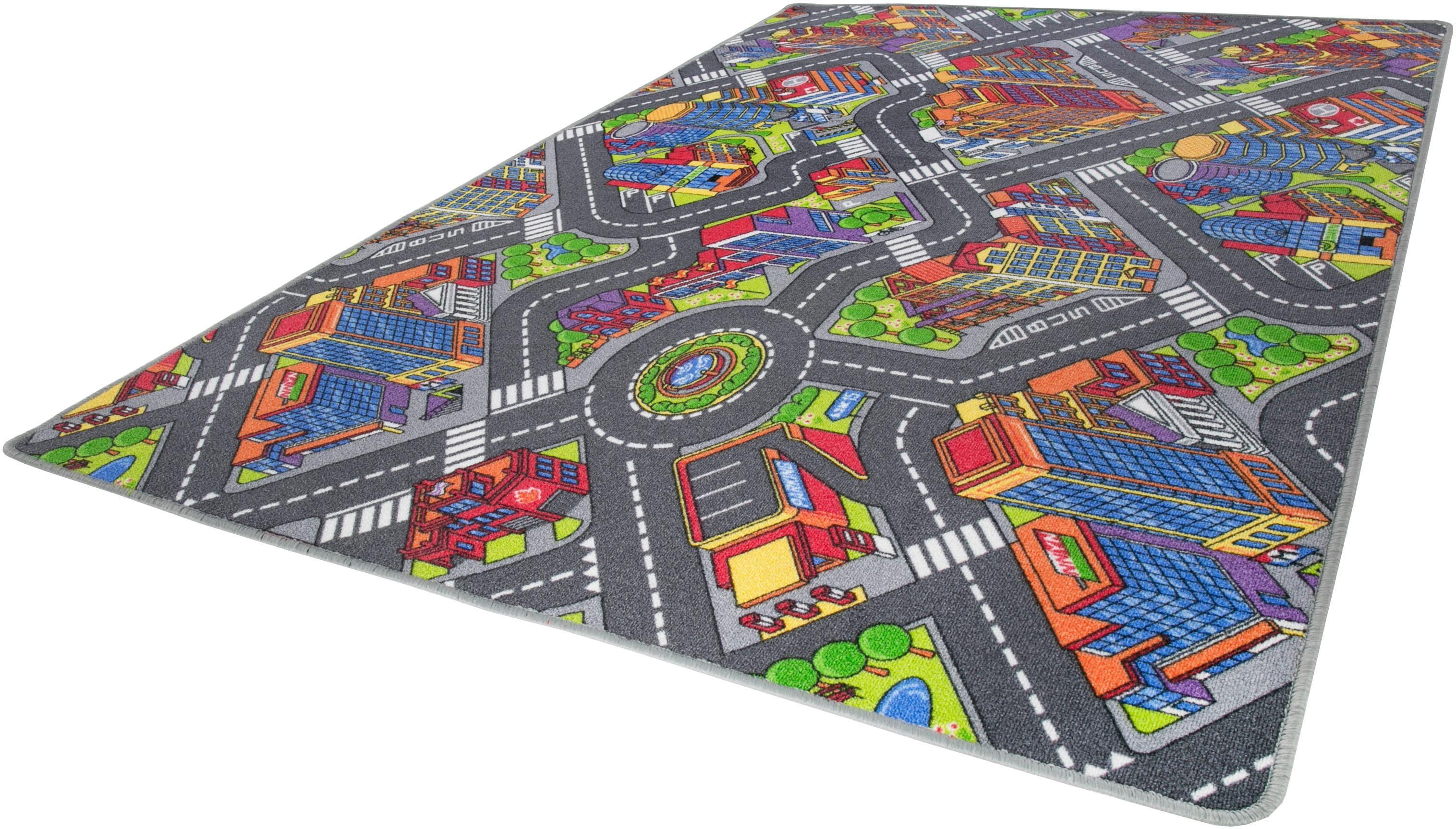 Kinderteppich, Big City, Andiamo, rechteckig, Höhe 7 mm, maschinell getuftet bunt Kinder Bunte Kinderteppiche Teppiche