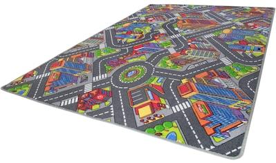 Andiamo Kinderteppich »Big City«, rechteckig, 7 mm Höhe, Straßen-Spielteppich, Straßenbreite: 8,5 cm kaufen