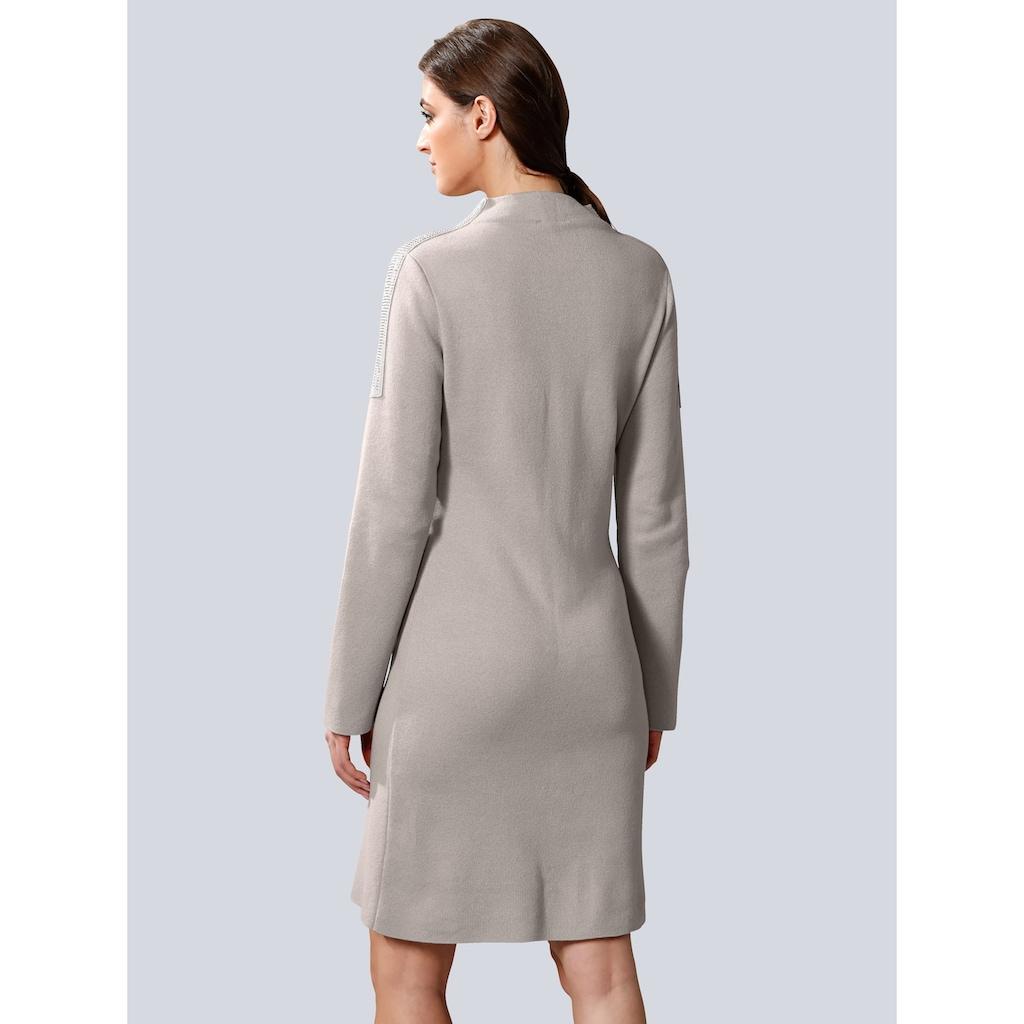Alba Moda Strickkleid, mit modischem Stehkragen