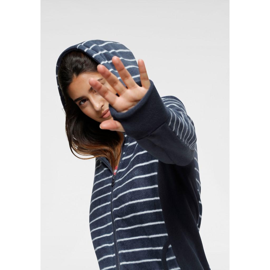 KangaROOS Fleecejacke, im trendigem Uni-Streifen-Mix