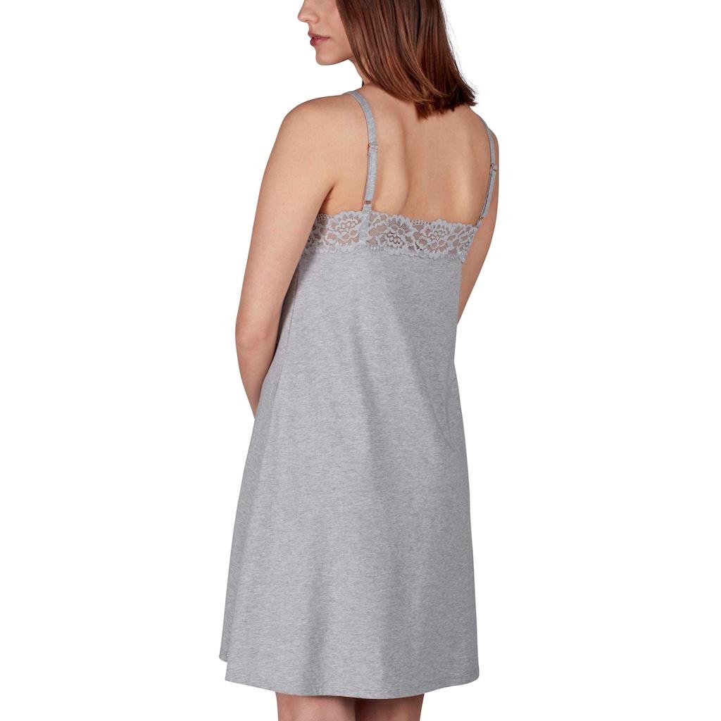 Skiny Nachthemd mit Spitzen-Details