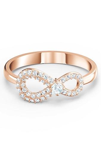 Swarovski Fingerring »Unendlichkeitsschleife, Infinity, weiss, Rosé vergoldet, 5535405, 5535400, 5518873, 5535412, 5535413« kaufen