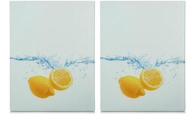Zeller Present Schneide- und Abdeckplatte »Lemon Splash«, (Set, 2 tlg.), aus... kaufen