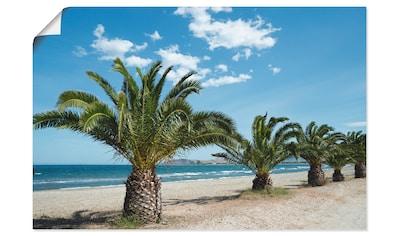 Artland Wandbild »Palmenstrand«, Bäume, (1 St.), in vielen Größen & Produktarten -... kaufen
