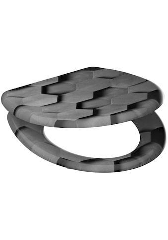 Schütte WC-Sitz »Grey Hexagons«, mit Absenkautomatik kaufen