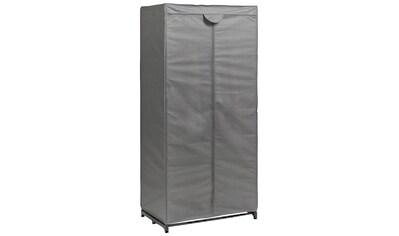 Zeller Stoff - Kleiderschrank, Farbe grau, Maße 160x75x50 cm kaufen
