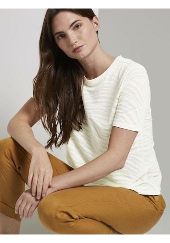 TOM TAILOR mine to five T-Shirt »T-Shirt im blassem Zebra-Muster« kaufen