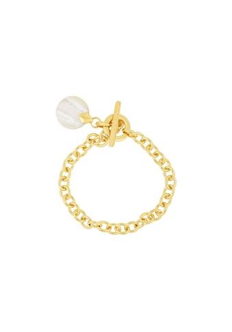 merch mashiah Armband »Ankerarmband«, mit Perlmutt-Anhänger, Bronze gelbvergoldet kaufen