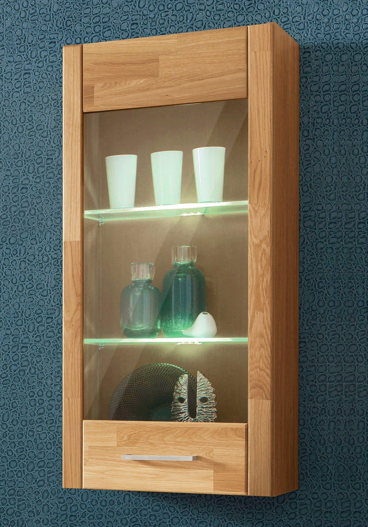 h ngevitrine t r mit glaseinsatz h he 105cm kaufen baur. Black Bedroom Furniture Sets. Home Design Ideas