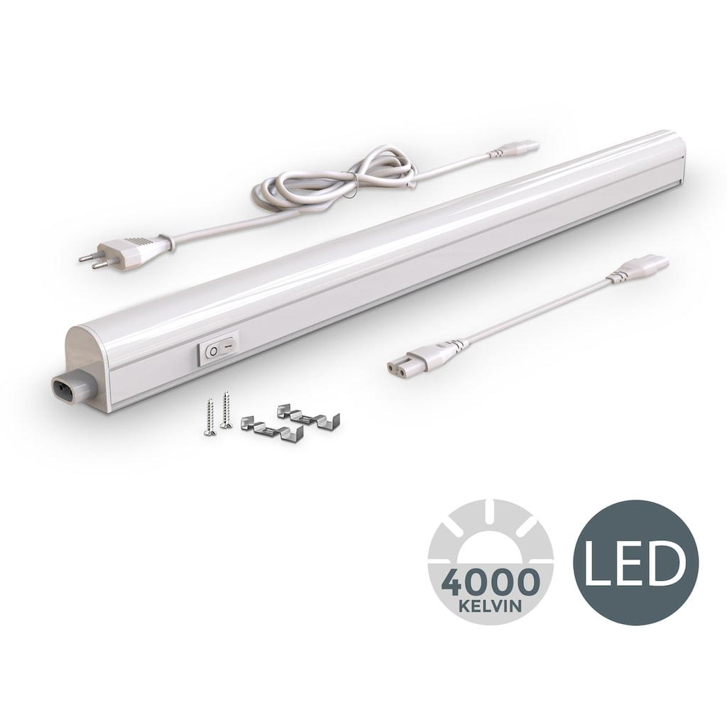 B.K.Licht LED Unterbauleuchte, LED-Board, Neutralweiß, LED Unterbaulampe 8W 700lm Lichtleiste Küche Lampe Beleuchtung Schrank Leuchte