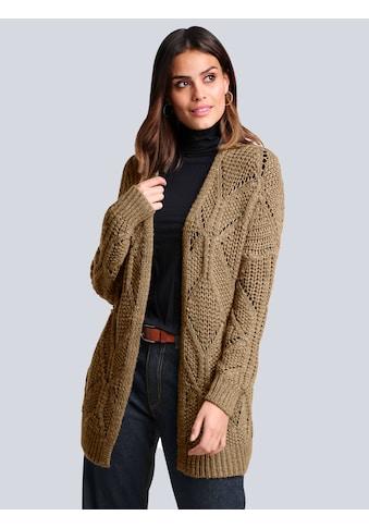Alba Moda Strickjacke, mit Glanzgarn kaufen