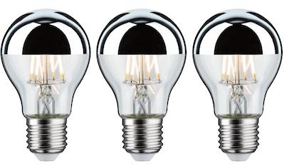 Paulmann »3er Pack 6,5W Kopfspiegel E27 2700K silber« LED - Leuchtmittel, E27, Warmweiß kaufen