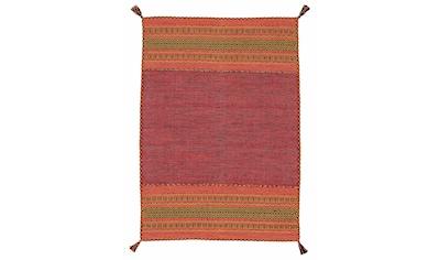 carpetfine Teppich »Kelim Azizi«, rechteckig, 5 mm Höhe, reine Baumwolle mit Fransen, Wohnzimmer kaufen
