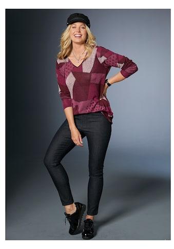MIAMODA Pullover mit trendigem Patchdruck kaufen