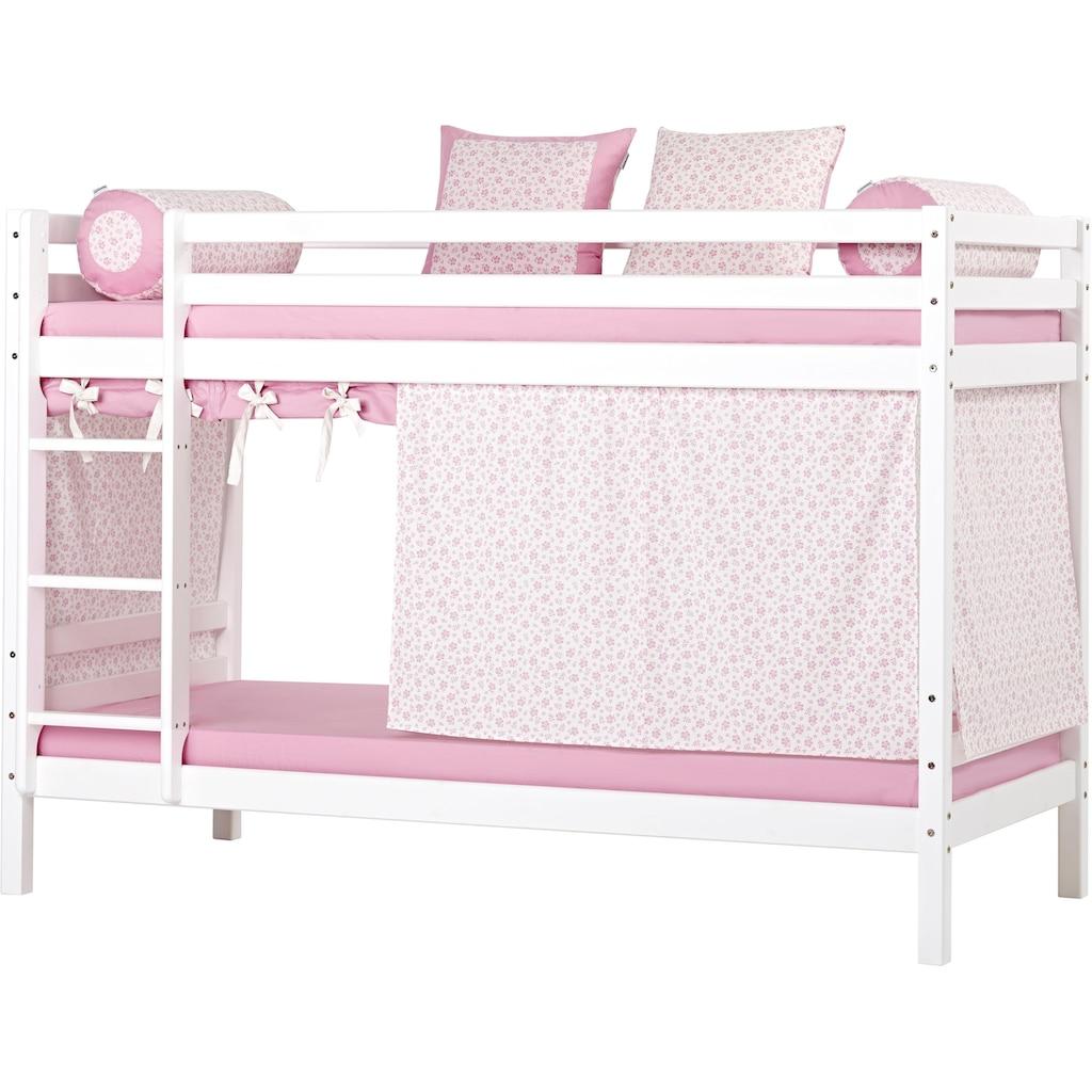 Hoppekids Etagenbett, inkl. Vorhang-Set, 2 Matratzen, 2 Rollroste und 2 Schubkästen