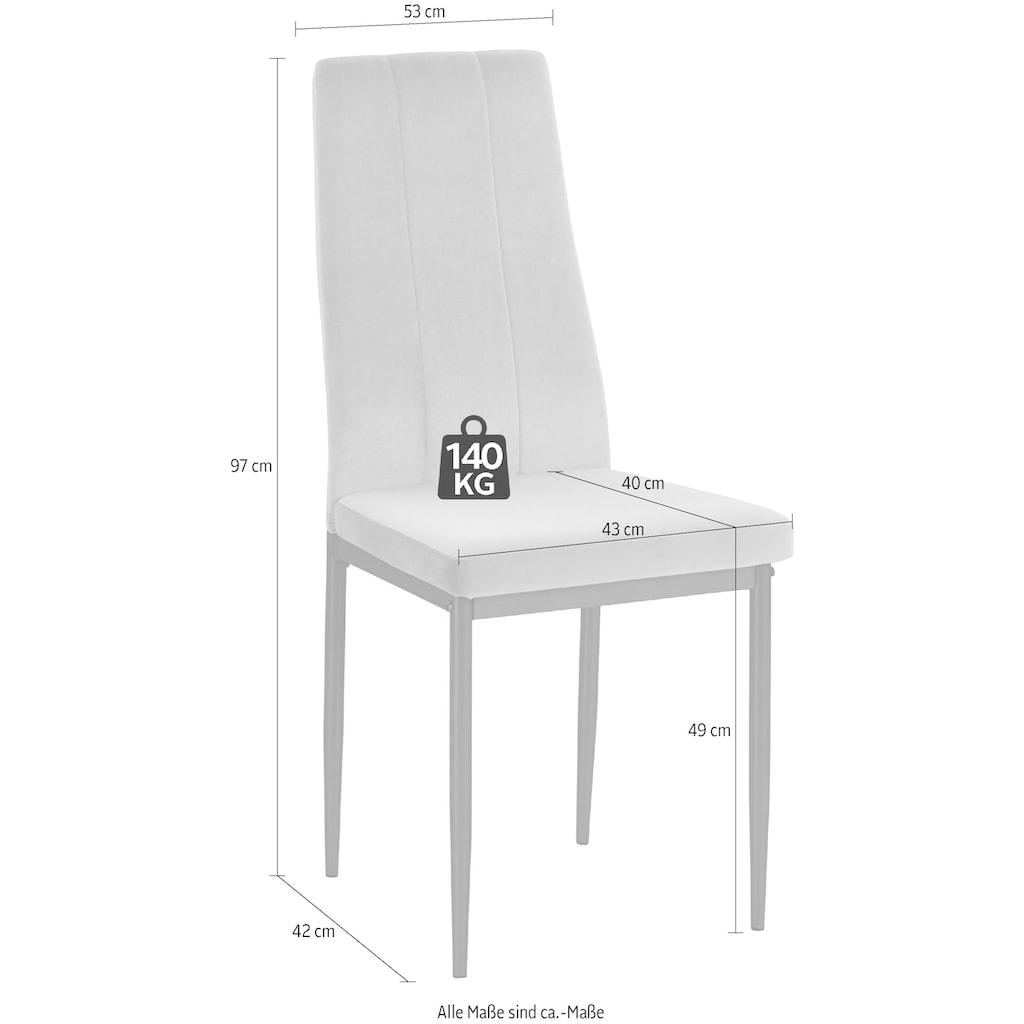 INOSIGN 4-Fußstuhl »Remus«, im 1er,2er und 4er Set erhältlich, in unterschiedlichen Bezugsqualitäten und Farbvarianten