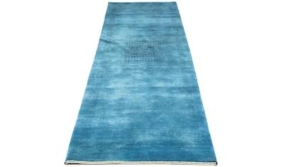 morgenland Wollteppich »Loribaft Teppich handgeknüpft blau«, rechteckig, 18 mm Höhe,... kaufen