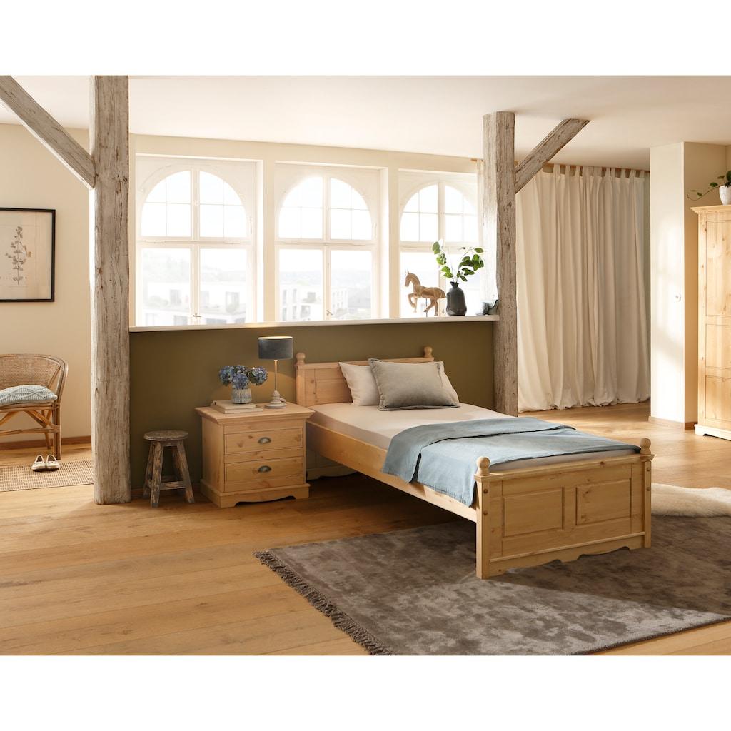"Home affaire Nachtkommode »Eva«, Nachtkommode ""Eva"" aus Kiefer massiv, Breite 59,5 cm"
