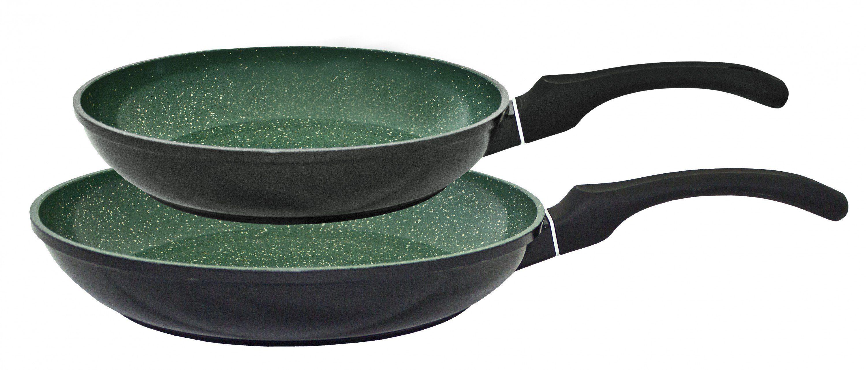 Kopf Pfannenset aus Aluguss Induktion Emerald (2tlg) Wohnen/Haushalt/Haushaltswaren/Pfannen/Pfannensets