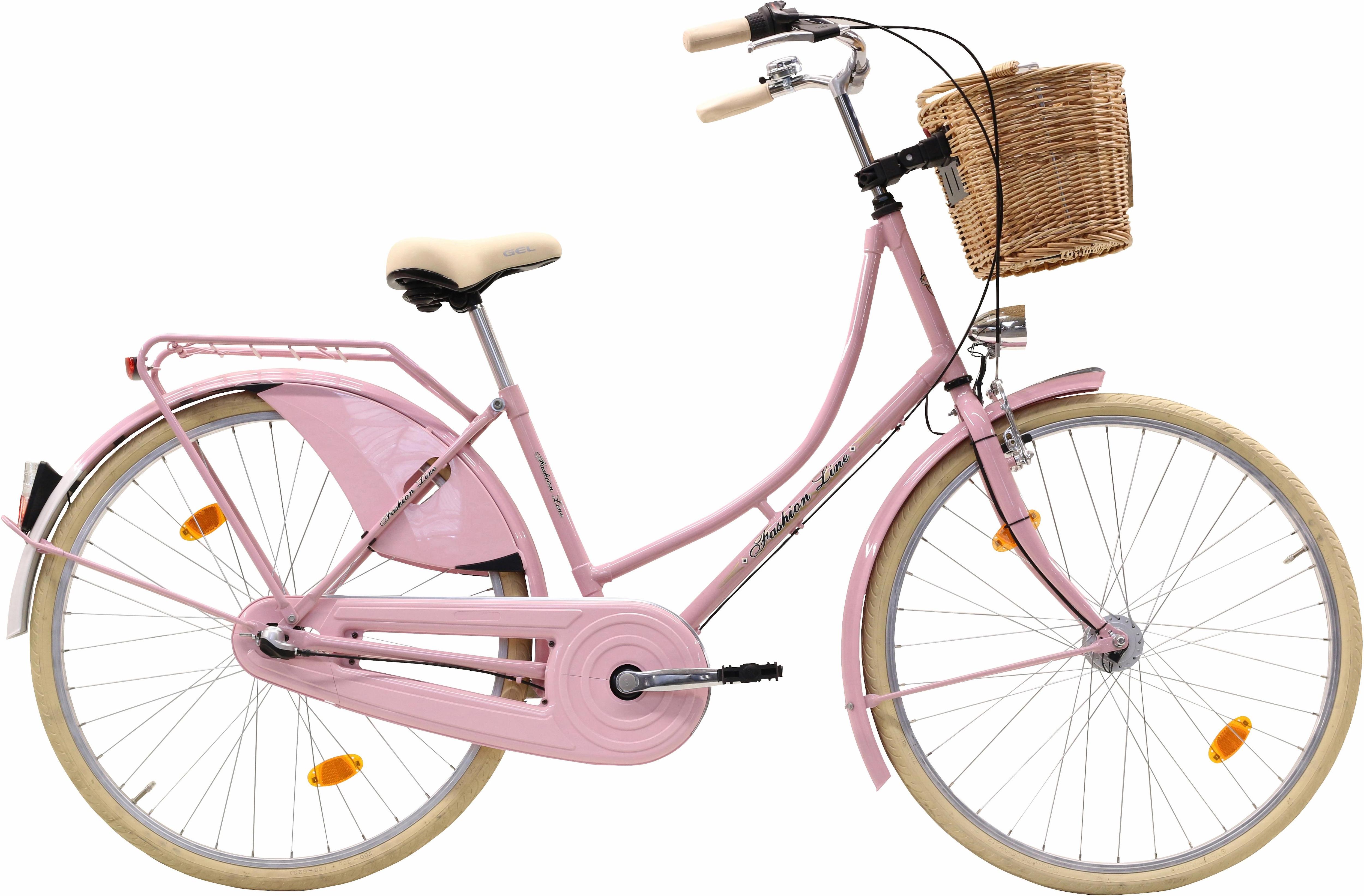 FASHION LINE Hollandrad, 3 Gang, Shimano, Nabenschaltung rosa Damen Hollandrad Damenfahrräder Fahrräder Zubehör