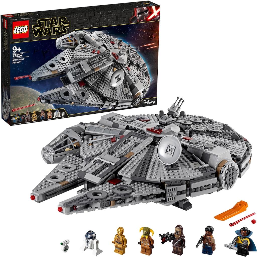 LEGO® Konstruktionsspielsteine »Millennium Falcon™ (75257), LEGO® Star Wars™«, (1351 St.), Made in Europe