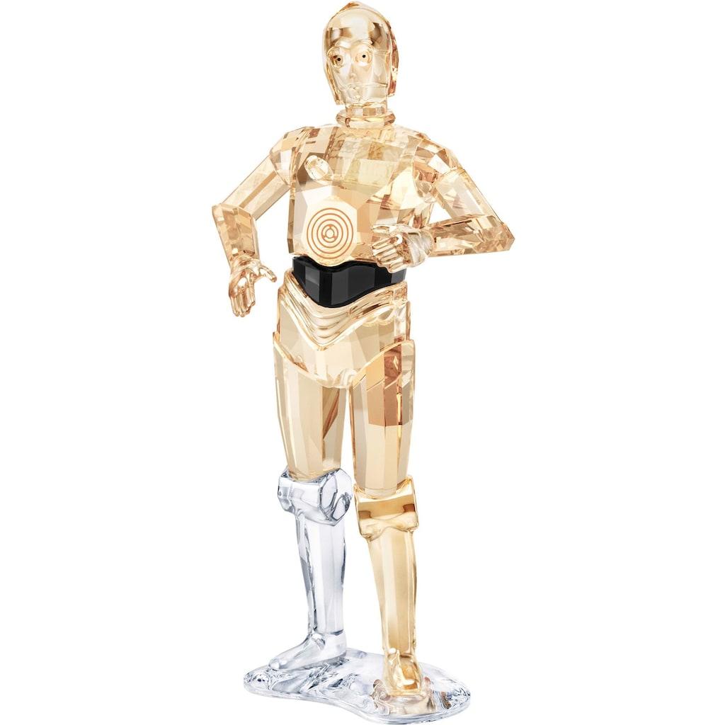 Swarovski Dekofigur »STAR WARS - C-3PO, 5473052«, Swarovski® Kristall mit schwarzem Emaille