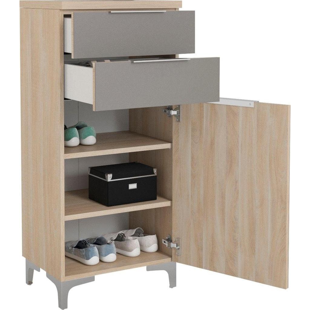 Maja Möbel Schuhschrank »SHINO Garderobe«, Oberplatte in 28mm starkem Holz, Schubladen mit Filzeinlagen