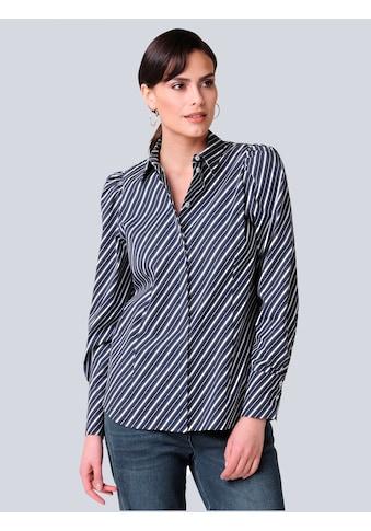 Alba Moda Hemdbluse, in modischem Streifendessin kaufen