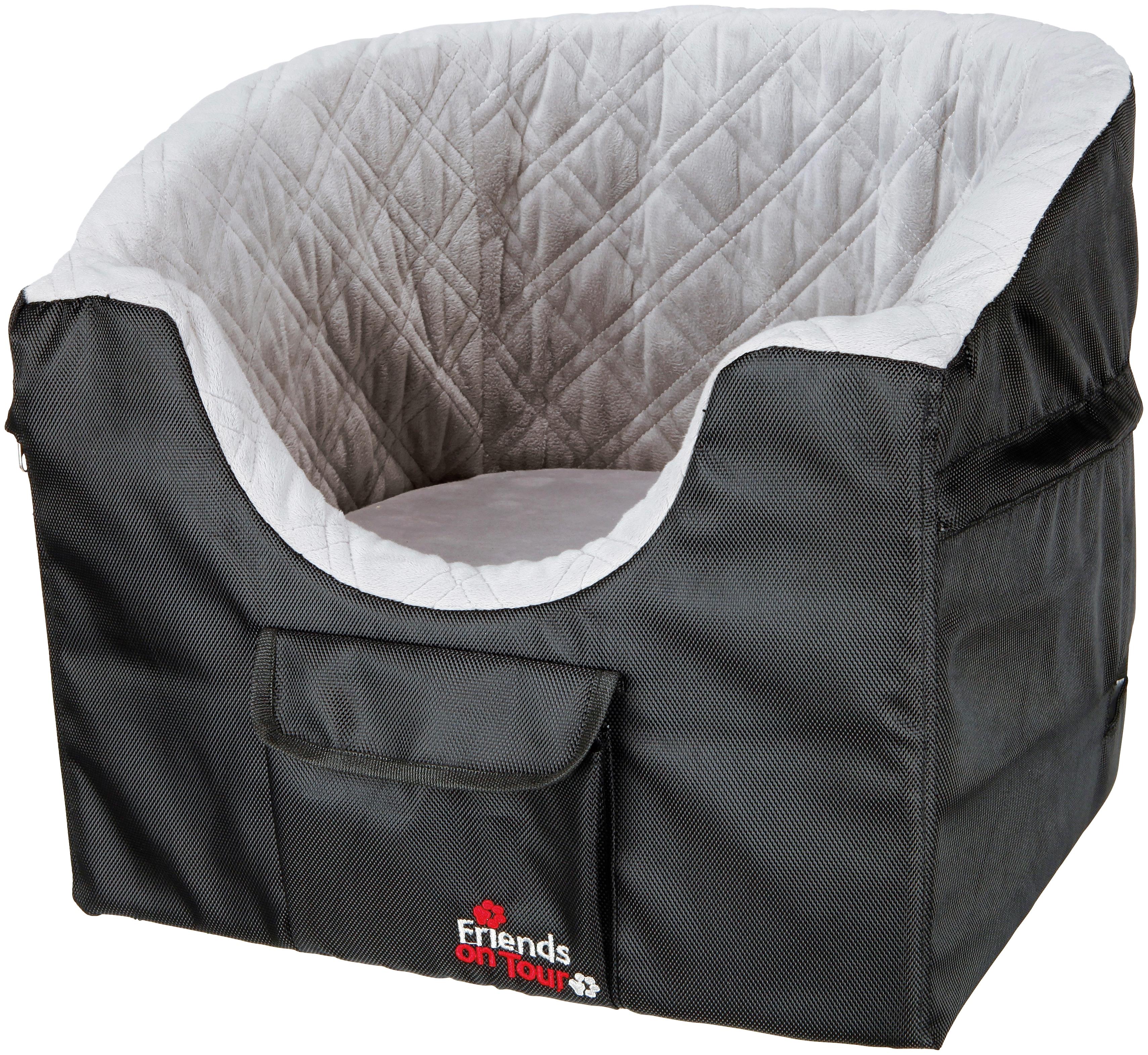 TRIXIE Hunde-Autositz, für kleine Hunde, BxL: 45x42 cm schwarz Hunde-Autositz Hundebetten -decken Hund Tierbedarf