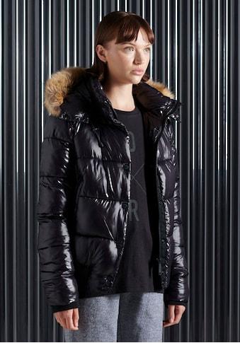 Superdry Kurzjacke »HIGH SHINE TOYA BOMBER«, im glänzendem Design & Tailenbündchen kaufen