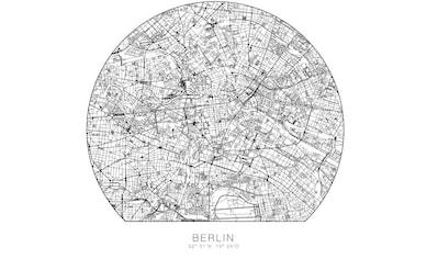 Wall-Art Wandtattoo »Wandaufkleber Berlin Stadtplan« kaufen