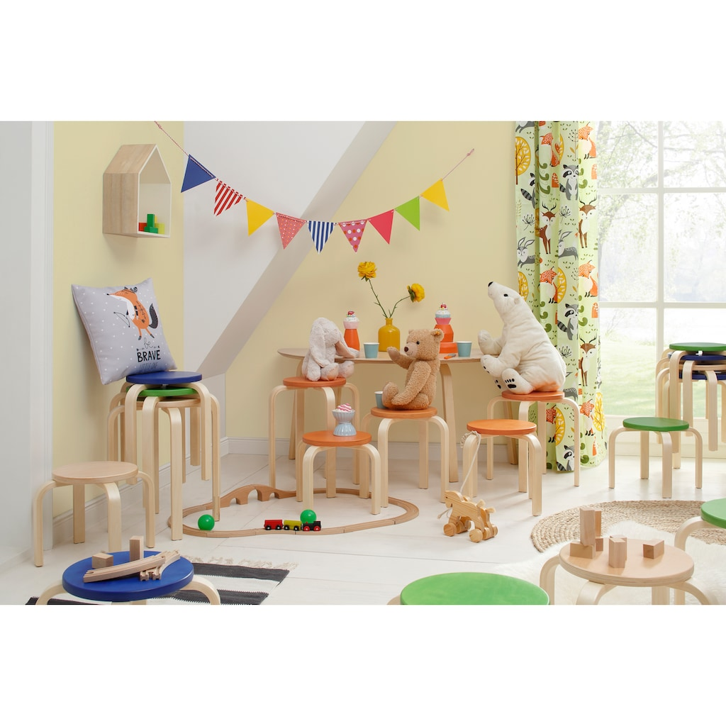 Lüttenhütt 4-Fußstuhl »Tipa«, in verschiedenen Größen und Höhen, aus Birkenschichtholz, Hocker für Kinder