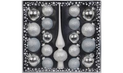 MAGIC by Inge Weihnachtsbaumkugel »Frosty Silver«, (Set, 19 St.), hochwertiger... kaufen