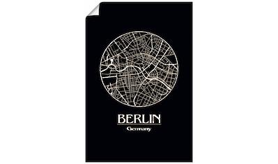 Artland Wandbild »Retro Karte Berlin Deutschland Kreis«, Deutschland, (1 St.), in... kaufen