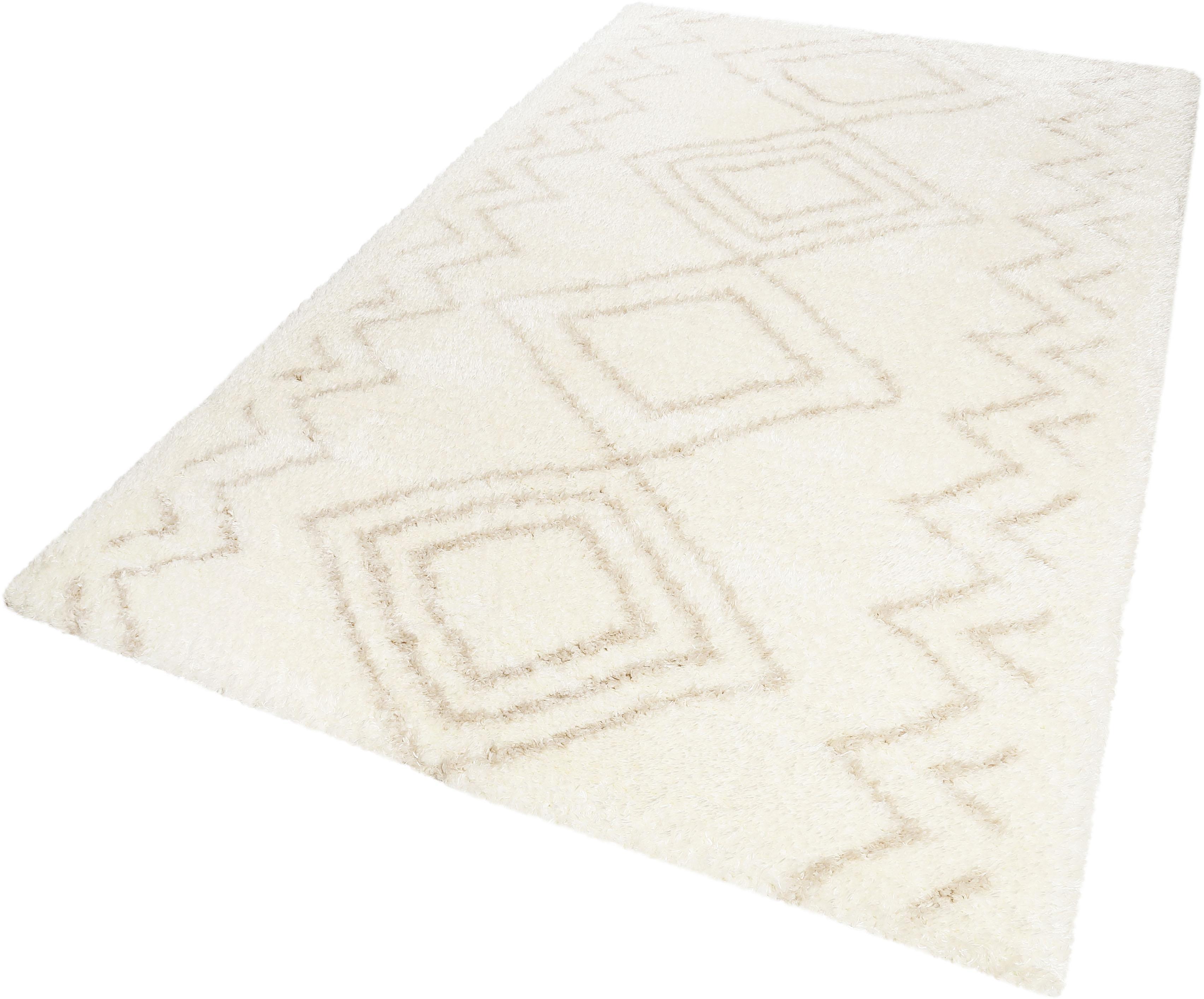 Hochflor-Teppich Yagour Wecon Home rechteckig Höhe 50 mm maschinell gewebt