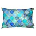 Juniqe Dekokissen »Cobalt Moroccan Tile Pattern«, Weiches, allergikerfreundliches Material