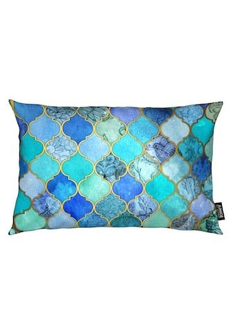 Dekokissen, »Cobalt Moroccan Tile Pattern«, Juniqe kaufen