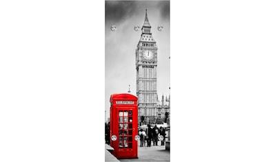 queence Garderobenpaneel »London«, mit 6 Haken, 50 x 120 cm kaufen